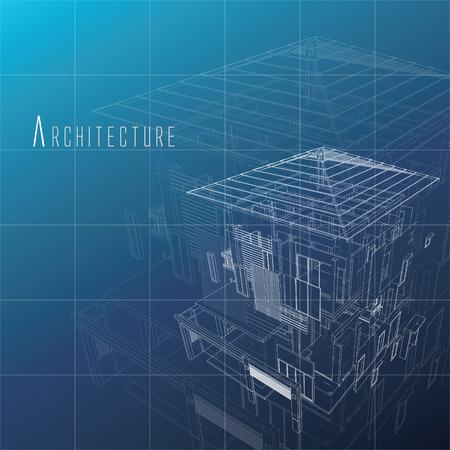 일반 배경 건물의 분해보기. 스톡 콘텐츠 - 85354055