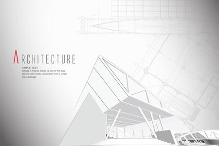 建築図面にカットの公共建物の 3 D 等角投影ビュー。