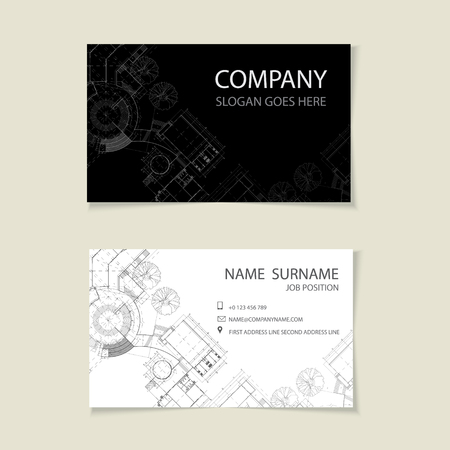 Abstract Elegant Business Card Template Royalty Free Cliparts
