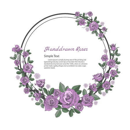 バラのデザインの花フレーム