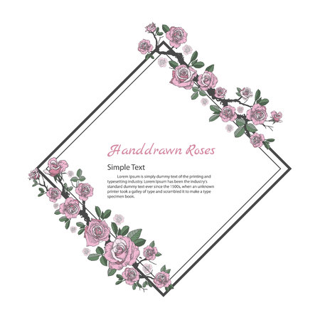 バラ図の花フレームです。