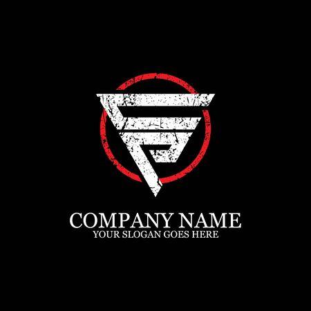 CP initial logo inspiration, gym design logo template Logo