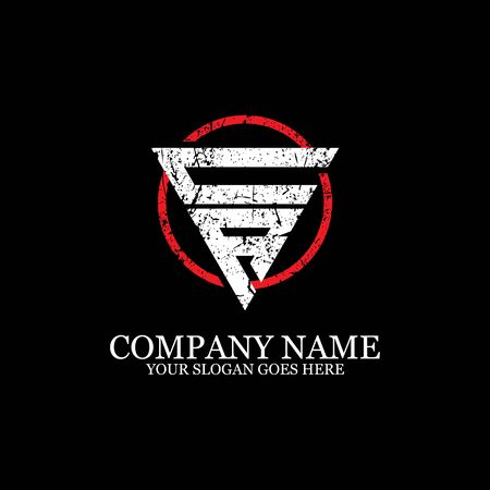 CR initial logo inspiration, gym design logo template