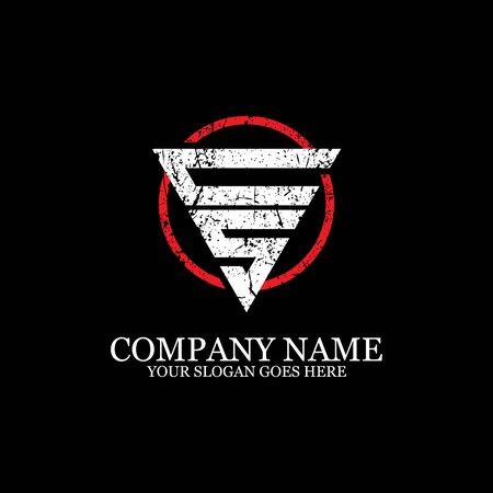 CS initial logo inspiration, gym design logo template Logó