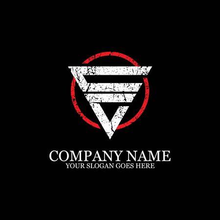CV initial logo inspiration, gym design logo template