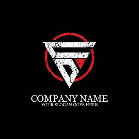 CD initial logo inspiration, gym design logo template Logo