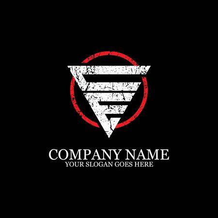 CE initial logo inspiration, gym design logo template