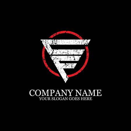 CF initial logo inspiration, gym design logo template