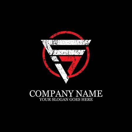 CI initial logo inspiration, gym design logo template Illusztráció
