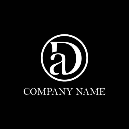 DA initial logo design inspiration, clean and clever vector