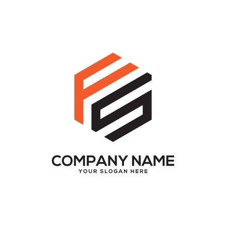 FS initial letter Logo Inspiration, F and S combination logo vector with hexagonal idea