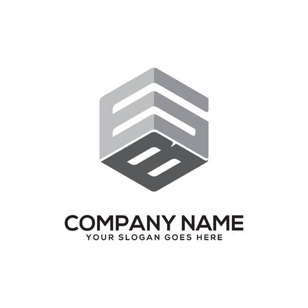 GB initial letter Logo Inspiration, G and B combination logo vector with hexagonal idea