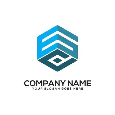 Początkowa litera GD Logo Inspiration, kombinacja logo G i D z sześciokątnym pomysłem