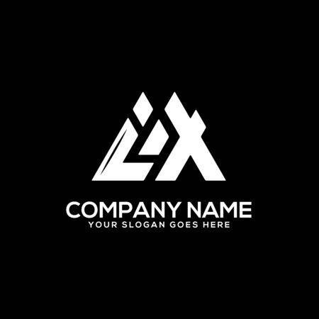 IX initial logo inspiration, I and X logo vector, can used sport, finance, firm logo template
