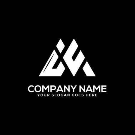 IV initial logo inspiration, I and V logo vector, can used sport, finance, firm logo template Ilustrace