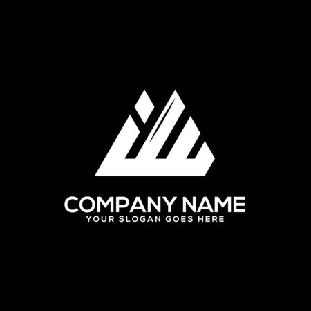 I W initial logo inspiration, I and W logo vector, can used sport, finance, firm logo template Çizim
