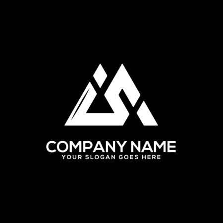 IS initial logo inspiration, I and S logo vector, can used sport, finance, firm logo template Ilustrace