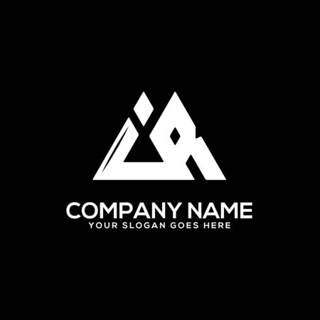 IR initial logo inspiration, I and R logo vector, can used sport, finance, firm logo template