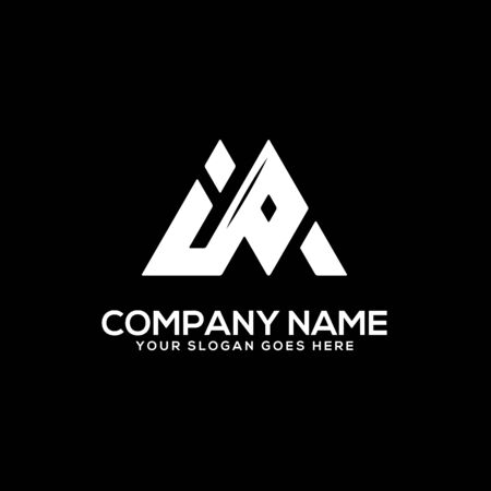 I P initial logo inspiration, I and P logo vector, can used sport, finance, firm logo template Ilustrace