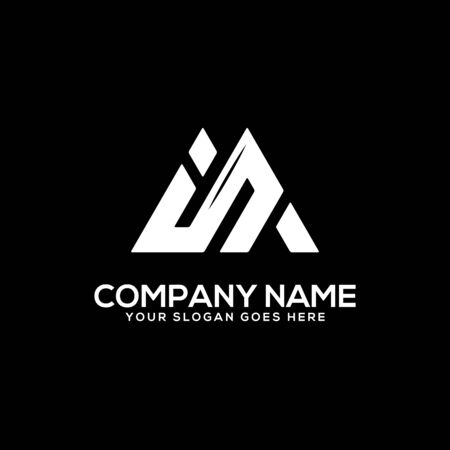 IN initial logo inspiration, I and AN logo vector, can used sport, finance, firm logo template