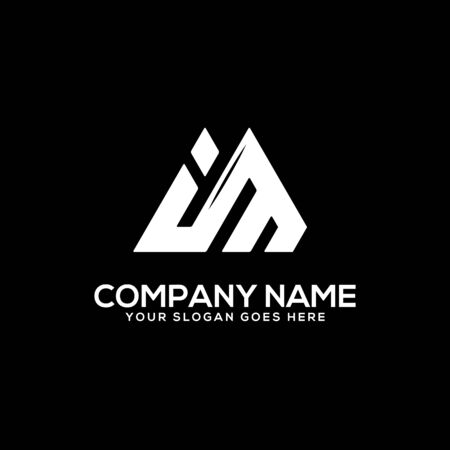 I M initial logo inspiration, I and M logo vector, can used sport, finance, firm logo template