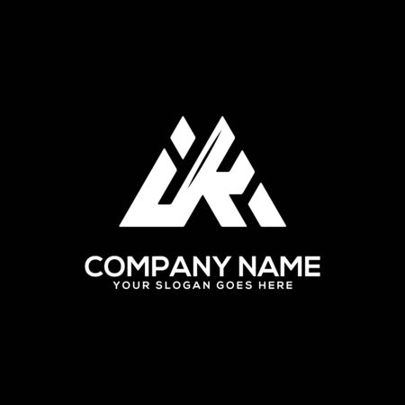I K initial logo inspiration, I and K logo vector, can used sport, finance, firm logo template Ilustrace