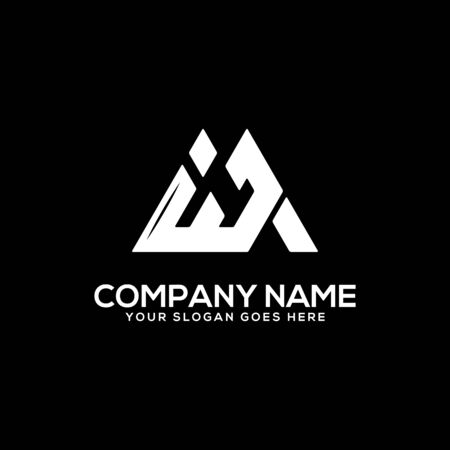 I J initial logo inspiration, I and J logo vector, can used sport, finance, firm logo template Ilustrace