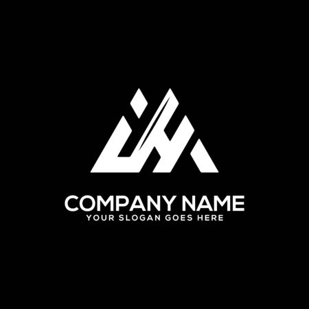 I H initial logo inspiration, I and H logo vector, can used sport, finance, firm logo template