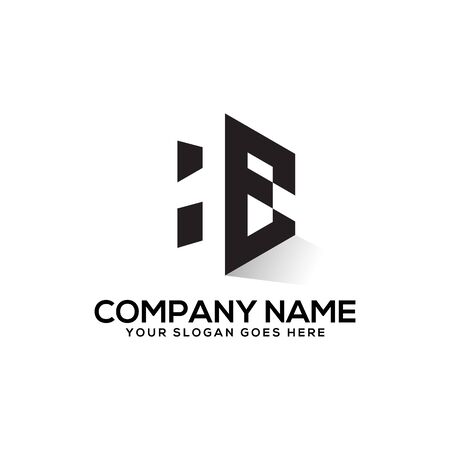 he negative space logo design,he logo inspiration