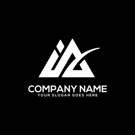 IA initial logo inspiration, I and A logo vector, can used sport, finance, firm logo template