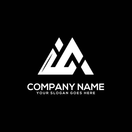 IC initial logo inspiration, I and C logo vector, can used sport, finance, firm logo template Ilustrace