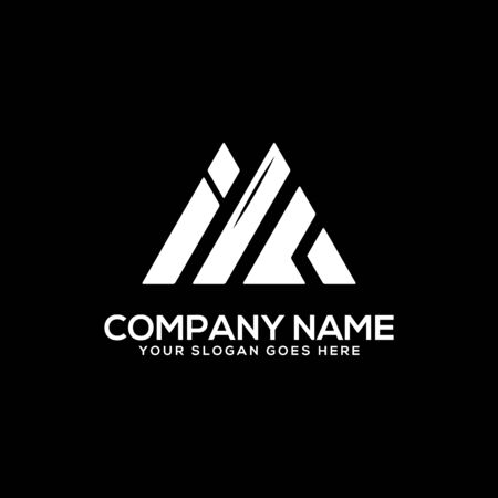 IF initial logo inspiration, I and A logo vector, can used sport, finance, firm logo template