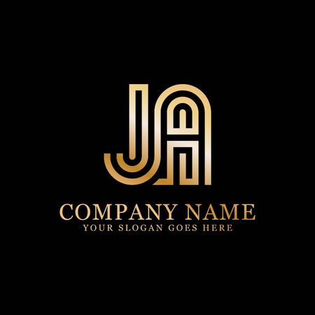 JA monogram logo inspirations, letters logo template,clean and creative designs
