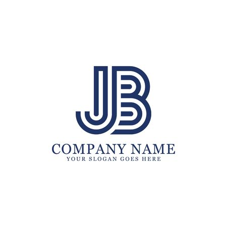 Jb monogram logo inspirations, letters logo template,clean and creative designs Stock Vector - 130156183