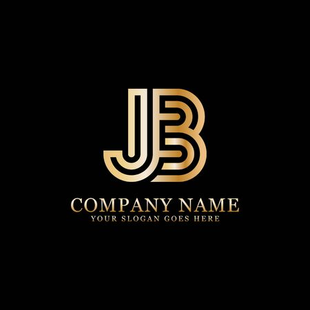 Jb monogram logo inspirations, letters logo template,clean and creative designs