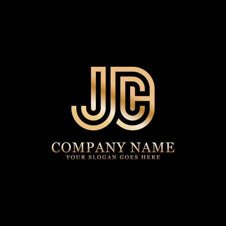 JC monogram logo inspirations, letters logo template,clean and creative designs Stock Vector - 130156187