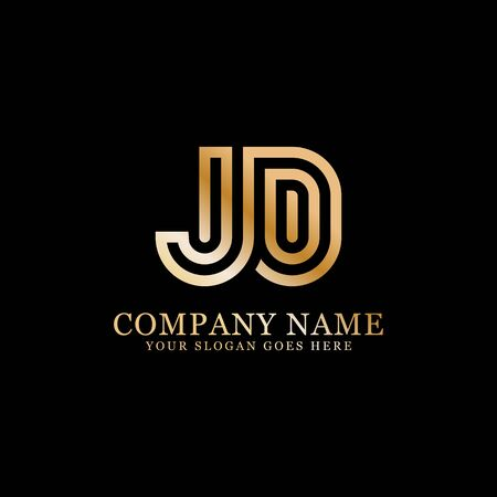 JD monogram logo inspirations, letters logo template,clean and creative designs Stock Vector - 130156188