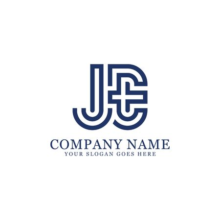 JE monogram logo inspirations, letters logo template,clean and creative designs Illustration
