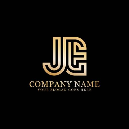 JE monogram logo inspirations, letters logo template,clean and creative designs Stock Vector - 130156193