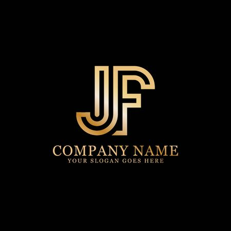 JF monogram logo inspirations, letters logo template,clean and creative designs Stock Vector - 130156194