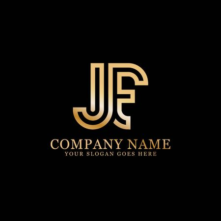 JF monogram logo inspirations, letters logo template,clean and creative designs Stock Vector - 130156254
