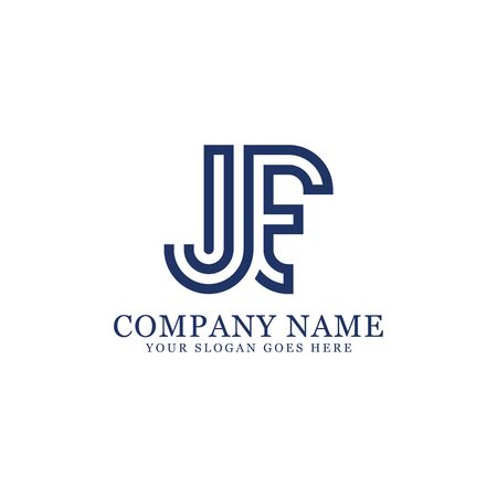 JF monogram logo inspirations, letters logo template,clean and creative designs Stock Vector - 130156255