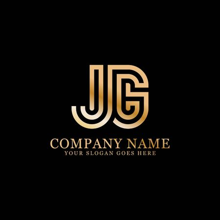 JG monogram logo inspirations, letters logo template,clean and creative designs Illustration