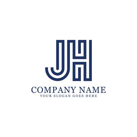 JH monogram logo inspirations, letters logo template,clean and creative designs Stock Vector - 130156258