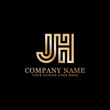 JH monogram logo inspirations, letters logo template,clean and creative designs Stock Vector - 130156260