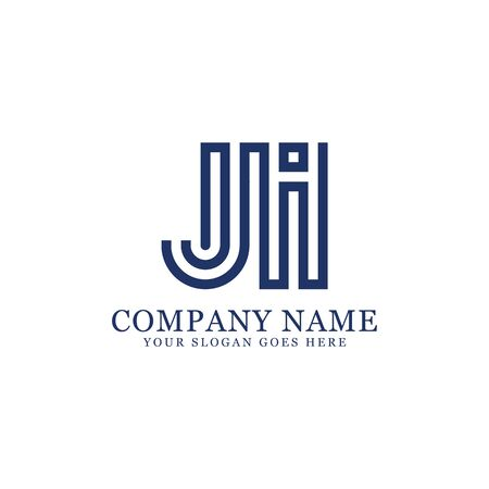 JI monogram logo inspirations, letters logo template,clean and creative designs Stock Vector - 130156261