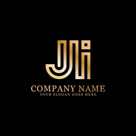 JI monogram logo inspirations, letters logo template,clean and creative designs