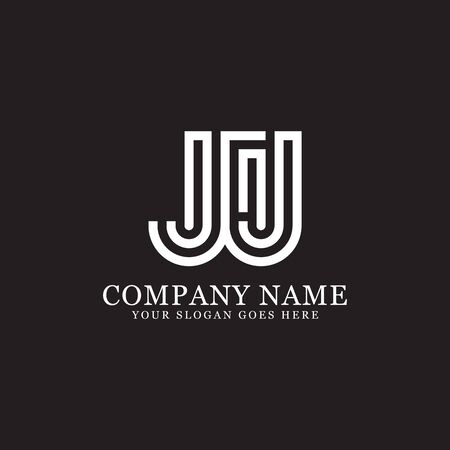 JJ monogram logo inspirations, letters logo template,clean and creative designs