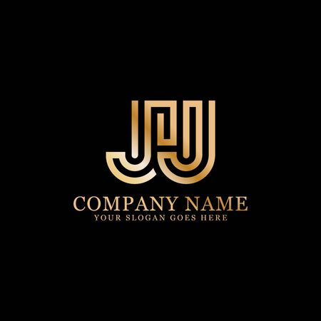 JJ monogram logo inspirations, letters logo template,clean and creative designs Stock Vector - 130156264