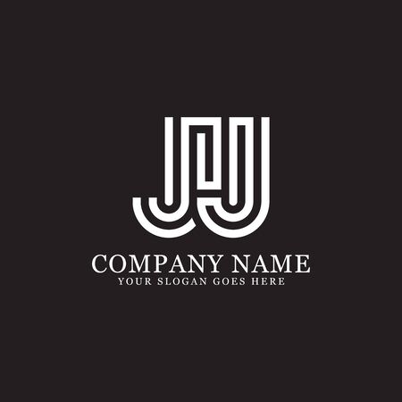 JJ monogram logo inspirations, letters logo template,clean and creative designs Stock Vector - 130156265
